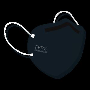 Maschera filtrante FFP2 nera